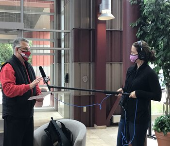 <p>Stritch Interim President Dr. Dan Scholz was interviewed by Emily Files of WUWM Radio and explained how the event benefited prospective college students and local higher education institutions.&nbsp;</p>